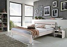 SAM® Massiv-Holzbett Jessica in Buche weiß, Bett
