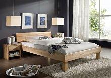 SAM® Massivholz Kernbuche Bett Columbia 140 x 200 cm geschlossenes Kopfteil, Holzbett aus Buche geöl