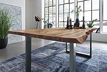 SAM Möbel Outlet Esstisch Baumkante, 120x80 cm,