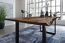 SAM Möbel Outlet Esstisch Baumkante, 140x80 cm,
