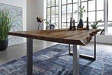 SAM Möbel Outlet Esstisch Baumkante, 160x85 cm,
