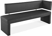 SAM® Ottomane Sitzbank, Eckbank Sabatina in grau, 170 cm Breite, gepolsterte Bank mit grauem Stoffbezug, angenehmer Sitzkomfor