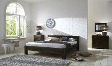 SAM® Palisander Massiv Holzbett Wales 140 x 200 cm Stone Sheesham Vollholz Bett aus massivem Rosenholz gefertigt Massivholz Be