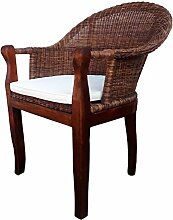 SAM® Rattan Esszimmer-Stuhl Cobra in Farbe braun