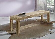 SAM® Sheesham Sitzbank Cubus 7047 natur gewachst 160 x 40 cm Holz Bank Esszimmer natürlich robust pflegeleich