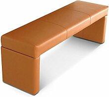 SAM® Sitzbank Bank Gustavo in Cappuccino 140 cm komplett bezogen angenehme Polsterung pflegeleich