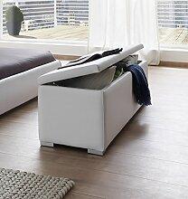 SAM Sitzbank Bettbank aufklappbar weiß 160 cm