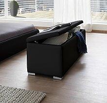SAM® Sitzbank Bettbank Heidi in schwarz, 160 cm Breite, Truhe mit aufklappbarer Sitzfläche und komfortabler Polsterung dank SAMOLUX®, pflegeleichte elegante Betttruhe mit Stauraum
