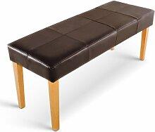 SAM® Sitzbank Enzio V 145 cm in braun mit buchefarbigen Beinen aus Pinienholz
