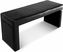 SAM® Sitzbank Garcia 140 cm in schwarz komplett bezogen angenehme Polsterung pflegeleich