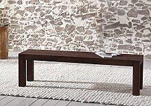 SAM® Sitzbank Timber 6634 akazie-Holz 180 x 45 x 40 cm massiv tabakfarbig, rustikales Design