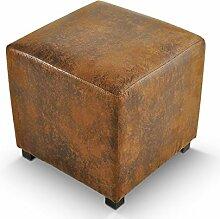 SAM® Sitzwürfel London in Wildleder Optik 45 x 45 x 45 cm angenehme Polsterung