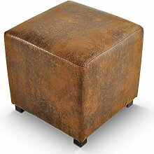 SAM® Sitzwürfel Wendy in Wildleder Optik mit Stoff Bezug 40 x 40 x 40 cm angenehme Polsterung