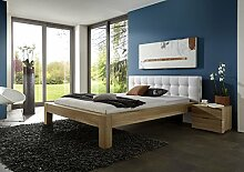 SAM® Stilvolles Holzbett 140 x 200 cm Stefanie, aus Kernbuche, Massivholz-Bett, gebürstet & pflegeleicht, Doppelbett aus Holz