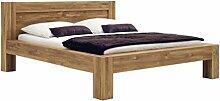 SAM® Stilvolles Holzbett 180 x 200 cm Brian, aus Wildeiche, Massivholz-Bett, geölt & pflegeleicht, Doppelbett aus Holz
