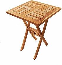SAM Teak-Holz Balkontisch Square, 60 x 60 cm,