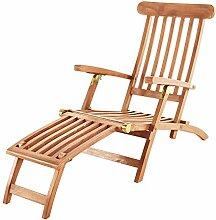 SAM Teak Holz Deckchair, Sonnenliege- Stuhl,
