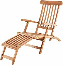 SAM Teak-Holz Sonnenliege Puccon, verstellbare