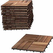 SAM Terrassen-Fliesen 05, Akazien-Holz, 9er