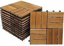SAM Terrassen- Klickfliese 01, Holz- Akazie, 33