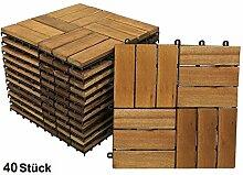 SAM® Terrassenfliese 02, Akazien-Holz, 40er