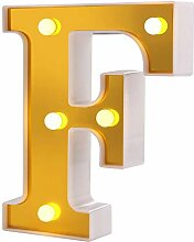 Samapete F LED Festzelt Brief Lichter 26 Alphabet