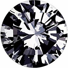 Samber Kristallsamt Runder Diamantteppich