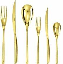 Sambonet Bamboo - Edelstahl / PVP Gold Besteckset