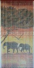 Sambrina Bambusvorhang Motiv Elefanten im