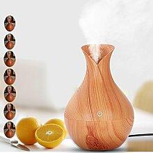 samLIKE Luftbefeuchter,7 Aroma Aromatherapie Luftbefeuchter des Farbluft Aroma ätherischen Öl Diffuser LED Ultraschall (Gelb)