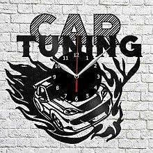 Samorou Auto Tuning Vinyl Schallplatte Wanduhr