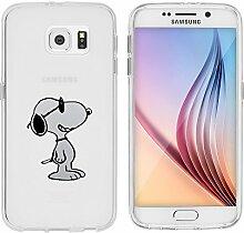 """Samsung Galaxy S6 Hülle von licaso® Case transparent klare Schutz-Hülle Samsung S6 5,1"""" Hund mit Sonnenbrille Lustig Tiere Sonne Tasche Mobile Phone Case Geschenk Druck Frauen Männer (Samsung Galaxy S6, Hund mit Sonnenbrille)"""