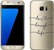 """Samsung Galaxy S7 Edge Hülle von licaso® Case transparent klare Schutz-Hülle Samsung S7 Edge 5,5"""" LLL Lieb Herz Feder Tasche Mobile Phone Case Geschenk Druck Frauen Männer (Samsung Galaxy S7 Edge, LLL)"""