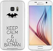 """Samsung Galaxy S7 Hülle von licaso® Case transparent klare Schutz-Hülle Samsung S7 5,1"""" Keep Calm & Call Bat Fledermaus Superheld Comic Tasche Mobile Phone Case Geschenk Druck Frauen Männer (Samsung Galaxy S7, Keep Calm & Call Bat)"""