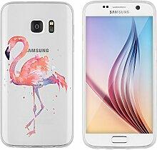 """Samsung Galaxy S7 Hülle von licaso® Case transparent klare Schutz-Hülle Samsung S7 5,1"""" Pinker Vogel Lustig Fliegen Zoo Tasche Mobile Phone Case Geschenk Druck Frauen Männer (Samsung Galaxy S7, Pinker Vogel)"""