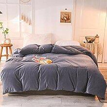Samt Bettbezug,reinen Farben Plüsch Flanell Luxus