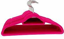Samt Kleiderbügel Pink–50Stück Le JUVO Hot Pink Samt Kleiderbügel für Hemden und Kleider mit Bonus Zubehör Bar–45,7cm Kleiderbügel von Le JUVO