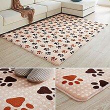 Samt Shaggy Teppich für Wohnzimmer niedlicher