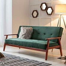 Samt Sofa in Dunkelgrün Schlaffunktion