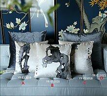 Samtkissen für gehobene Wohnzimmer Sofakissen und kreative Malerei Tinte färben,C