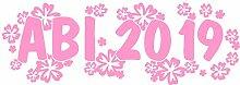 Samunshi® 2019 Abiaufkleber Hibiskusblüten