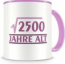 Samunshi® √2500 Jahre alt Geburtstags Tasse 50