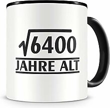 Samunshi® √6400 Jahre alt Geburtstags Tasse 80