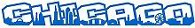 Samunshi® Chicago Schriftzug Skyline Aufkleber in