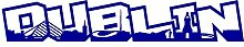 Samunshi® Dublin Schriftzug Skyline Aufkleber in