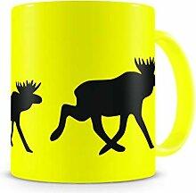 Samunshi® Elchkarawane Tasse Kaffeetasse Teetasse
