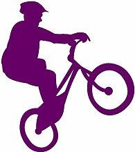 Samunshi® Fahrrad-Trial Aufkleber Trailbiker in 8