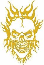 Samunshi® Flammen Totenkopf Aufkleber