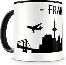 Samunshi® Frankfurt Skyline Tasse Kaffeetasse
