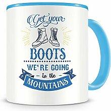 Samunshi® Get Your Boots Tasse Camping Geschenk